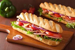Bilder Brot Sandwich Schinken Tomate