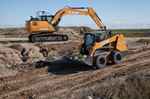 Pictures Front loader Two Excavator Case SR240 Case CX160D