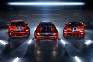 Hintergrundbilder Chevrolet Drei 3 Rot Vorne Camaro RS Hot Wheels, Camaro SS Convertible  Hot Wheels, COPO Camaro  Hot Wheels Package Autos
