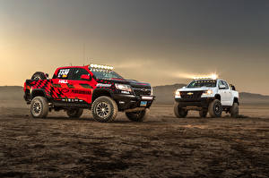 Image Chevrolet Tuning Two Pickup 2017 Hall Racing Chevrolet Colorado ZR2 Extended Cab automobile
