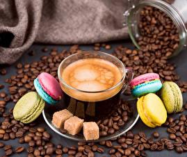 Fotos Kaffee Tasse Getreide Macarons Zucker das Essen