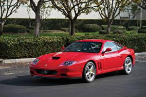 Pictures Ferrari Pininfarina Red Automobile 2002-06 575 M Maranello F1 Cars