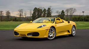 Bilder Ferrari Gelb Metallisch Roadster 2005-09 F430 Spider Pininfarina