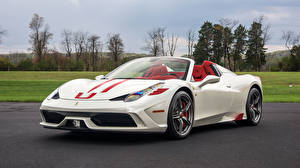 Bilder Ferrari Weiß Metallisch Roadster 2015 458 Speciale A  Pininfarina