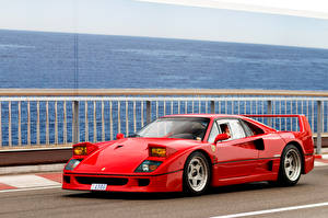 Wallpapers Ferrari Retro Pininfarina Red Metallic 1987-89 F40 FR-spec Cars