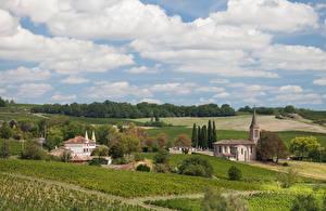 Fotos Frankreich Gebäude Acker Himmel Wolke Gaillac Natur