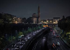 Bilder Frankreich Haus Wege Paris Nacht Städte