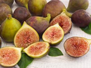 Bilder Obst Echte Feige Nahaufnahme das Essen