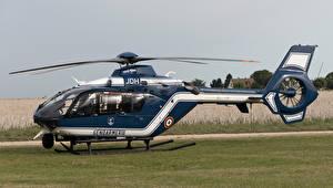 Hintergrundbilder Hubschrauber Blau Seitlich