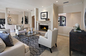 Pictures Interior Design Lounge sitting room Armchair Fireplace