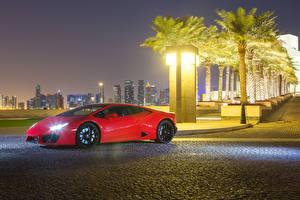 Pictures Lamborghini Red Metallic 2015-17 Huracan LP 580-2