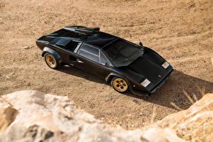 Images Lamborghini Vintage Black 1978-79 Countach LP400 S