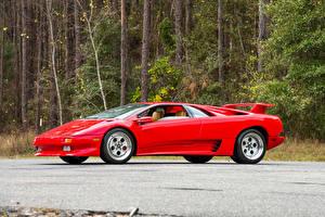 Image Lamborghini Retro Red Metallic 1990-93 Diablo Cars