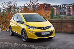 Fotos Opel Gelb Metallisch 2016 Ampera-e automobil