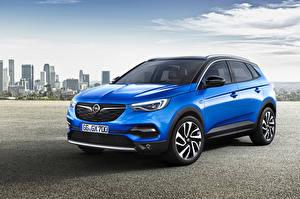Hintergrundbilder Opel Hellblau Metallisch 2017-18 Grandland X