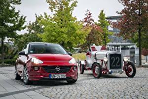 Hintergrundbilder Opel Antik Zwei Rot Metallisch Opel Adam, Loryc Electric Speedster Autos