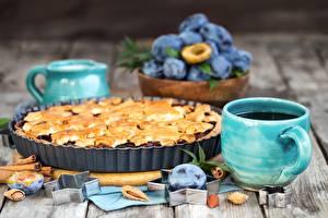Fotos Obstkuchen Pflaume Lebensmittel