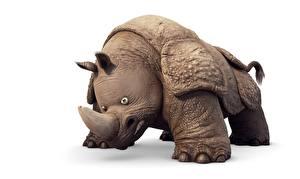 Fonds d'écran Rhinocéros Fond blanc Vincent Chambin, The Jungle Bunch : The Movie Dessins_animés Animaux 3D_Graphiques