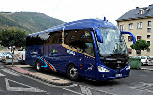 Wallpapers Scania Bus Blue Metallic IRIZAR i6 SCANIA