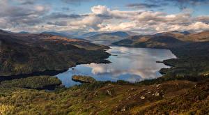 Bilder Schottland Landschaftsfotografie Flusse Himmel Hügel Wolke Natur
