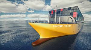 Hintergrundbilder Meer Schiff Containerschiff