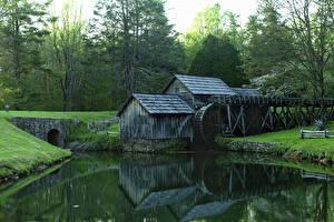 Fotos USA Park Flusse Mühle Blue Ridge Parkway Natur
