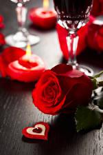 Bilder Valentinstag Rosen Hautnah Rot Herz Blumen