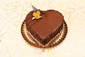 Bilder Valentinstag Süßware Torte Schokolade Rosen Herz Design