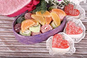 Bilder Valentinstag Süßigkeiten Marmelade Herz das Essen