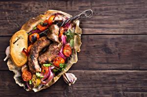 Bilder Wiener Würstchen Gemüse Brot Knoblauch Bretter