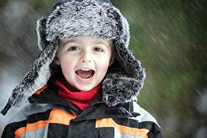 Bilder Junge Mütze Freude Kinder