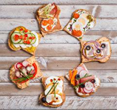 Hintergrundbilder Butterbrot Brot Gemüse Fleischwaren Käse Bretter Ei das Essen
