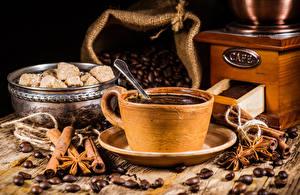 Bilder Kaffee Zimt Kaffeemühle Tasse Getreide Lebensmittel