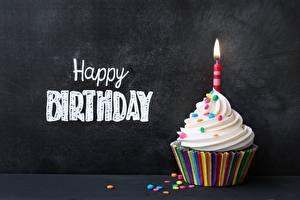 Hintergrundbilder Cupcake Geburtstag Kerzen Englisch Wort Lebensmittel