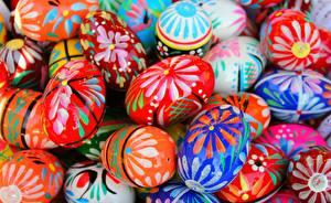 Fotos Ostern Nahaufnahme Ei Lebensmittel
