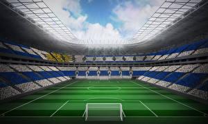 Bilder Fußball Stadion Rasen sportliches