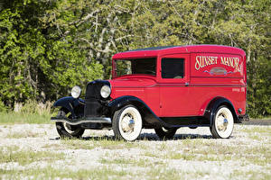 Bilder Ford Antik Rot 1933 Model 46 Panel Delivery Autos