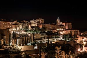 Bilder Frankreich Gebäude Nacht Provence Gordes Städte
