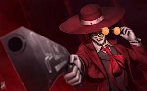 Bilder Hellsing Pistolen Großansicht Der Hut Fan ART Alucard Anime