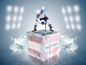 Обои Хоккей Мужчины Униформа Лед