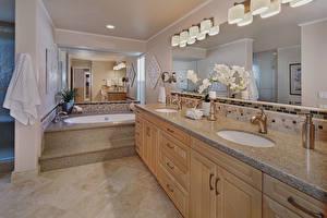 Wallpaper Interior Design Bathroom Mirror