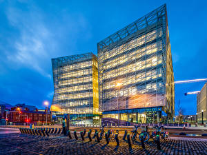 Images Ireland Building Evening Dublin Street Bicycles Cities
