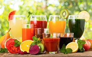 Fotos Saft Gemüse Obst Zitrusfrüchte Trinkglas Weinglas Lebensmittel