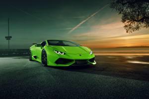 Bilder Lamborghini Gelbgrüne Spyder Novitec Torado Autos