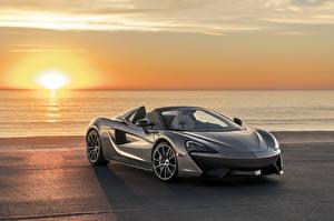 Photo McLaren Sunrises and sunsets Gray Roadster 2018 McLaren 570S Spider Cars
