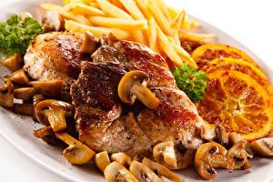 Bilder Fleischwaren Pilze