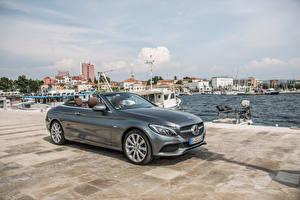 Фото Mercedes-Benz Серый Кабриолет 2016 C 250d Edition Автомобили