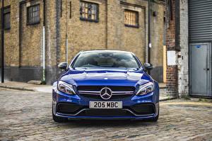 Images Mercedes-Benz Front Blue Coupe C205 automobile