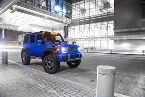 Hintergrundbilder Mercedes-Benz G-Modell Blau  Autos