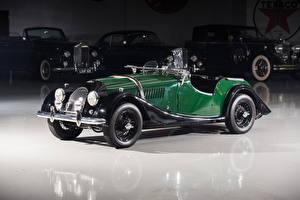 Bilder Morgan Motor Company Antik Grün Cabrio Metallisch 1950-69 Plus 4 Autos